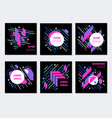 Geometric abstract colorful flyers poster design