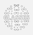 glasses round line eyeglasses vector image vector image