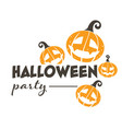halloween party holiday banner with jack o vector image vector image