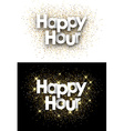 Happy hour paper card vector image