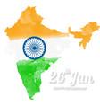 Happy Indian Republic Day celebration vector image vector image