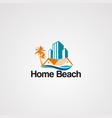 home beach logo icon element and template for vector image vector image