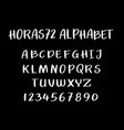 horas72 alphabet typography vector image vector image