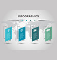 infographic design template with shear banners vector image vector image