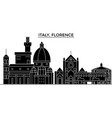 italy florence architecture city skyline vector image vector image