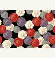 japanese seamless chrysanthemum pattern vector image vector image