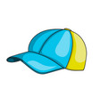 kids baseball cap icon vector image