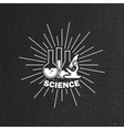 laboratory equipment label vector image