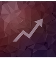 Lightning arrow upward in flat style icon vector image