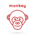Line style logotype template with a monkey vector image vector image