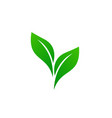 logo of green leaf ecology nature element vector image vector image