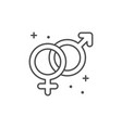 male and female sex line outline icon vector image vector image