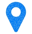 Map Marker Grainy Texture Icon vector image vector image