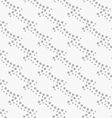 Monochrome pattern with gray dotted diagonal waves vector image vector image