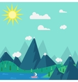 natural landscape in the style of flat vector image vector image