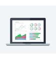 Online banking statistics concept vector image vector image