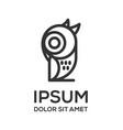 owl line art logo design vector image