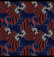 Paisleys seamless pattern dark blue floral
