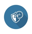 Protected 24-hour Icon Flat Design vector image