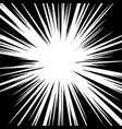 radial lines for comic book explosion texture vector image vector image