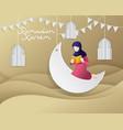 ramadan greeting vector image vector image
