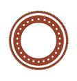 realistic brown color heraldic circular shape vector image vector image