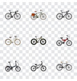 realistic folding sport-cycle extreme biking vector image vector image