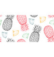 seamless pattern with hand drawn fresh vector image vector image