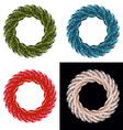 Set Christmas wreath Blue ornament for Christmas vector image vector image