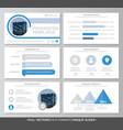 set of blue elements for multipurpose presentation vector image vector image