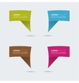 Set of colored speech bubbles vector image vector image