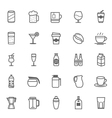 Set of Outline Stroke Beverage icon vector image vector image