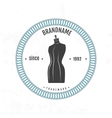 Set vintage retro mannequin shopping badges vector image
