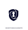 shield security template vector image vector image
