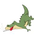 Sleeping crocodile Cartoon vector image vector image