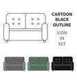 sofa icon of for web and vector image