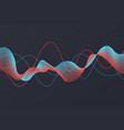 sound wave background abstract dot line blue vector image
