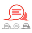 speech bubble chat icon vector image vector image