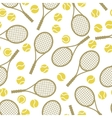 Sports seamless pattern with tennis icons in flat vector image vector image