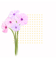 Springtime Greeting Card with Colorful Flowers vector image vector image