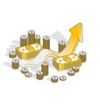 success and income increase concept growth chart vector image