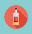 Tequila bottle flat icon with long shadow eps10