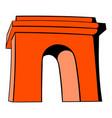 triumphal arch paris icon cartoon vector image vector image