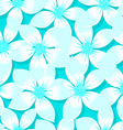 Turquoise tropical Plumeria and Hibiscus floral vector image vector image