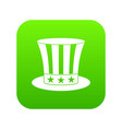 uncle sam hat icon digital green vector image