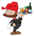 waiter gnome with food tray vector image vector image