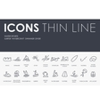 Water Sports Thin Line Icons vector image