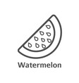 watermelon thin line icon isolated melon berry vector image vector image