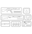 Weapons Game resources Line-art vector image vector image