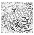 What Computer Printer Characteristics Should Be vector image vector image